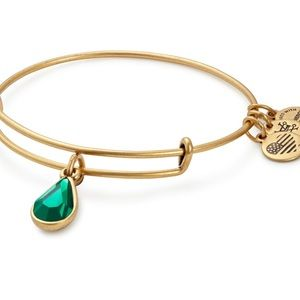 Alex and Ani Emerald Birthstone Charm Bangle, May